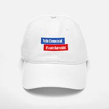 Vote Democrat Baseball Baseball Cap