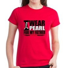 Lung Cancer Ribbon Father Tee
