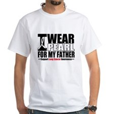 Lung Cancer Ribbon Father Shirt