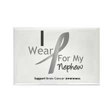 Gray Ribbon Nephew Rectangle Magnet