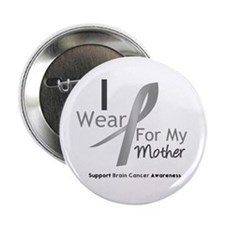 "Gray Ribbon Mother 2.25"" Button"