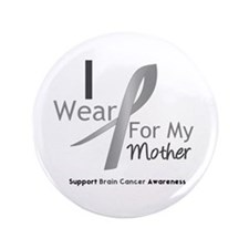 "Gray Ribbon Mother 3.5"" Button (100 pack)"