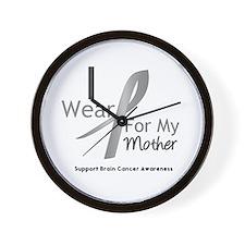 Gray Ribbon Mother Wall Clock