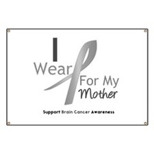 Gray Ribbon Mother Banner