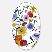 WILDFLOWERS Sticker (Oval)