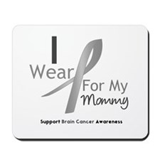 Gray Ribbon Mommy Mousepad