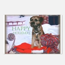 Good Tidings Border Terrier Postcards (Package of