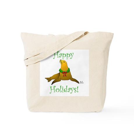 Christmas Sea Lion Tote Bag