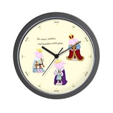 Three Wise Pigs English Wall Clock