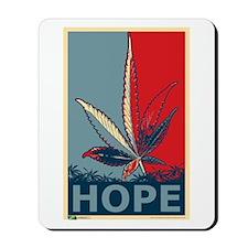 """Hope For Sense"" Legalize Marijuana Mousepad"