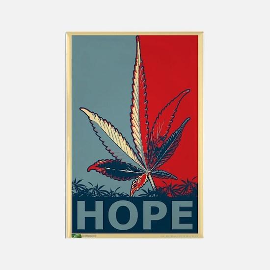 """Hope For Sense"" Legalize Marijuana Rectangle Magn"
