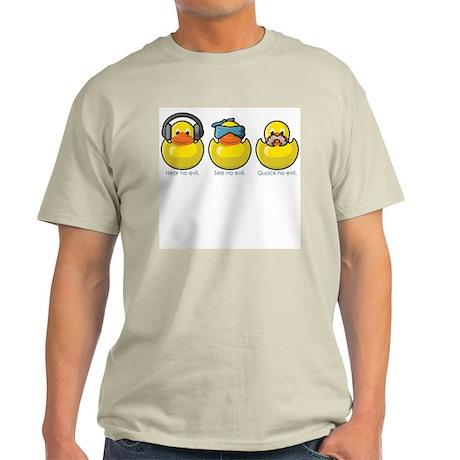 No Evil Ducks Ash Grey T-Shirt