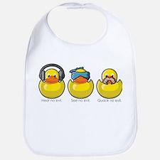 No Evil Ducks Bib