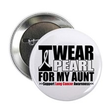 "Lung Cancer Ribbon Aunt 2.25"" Button"