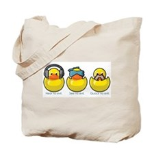 No Evil Ducks Tote Bag