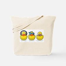 No Evil Ducks Tote Bag