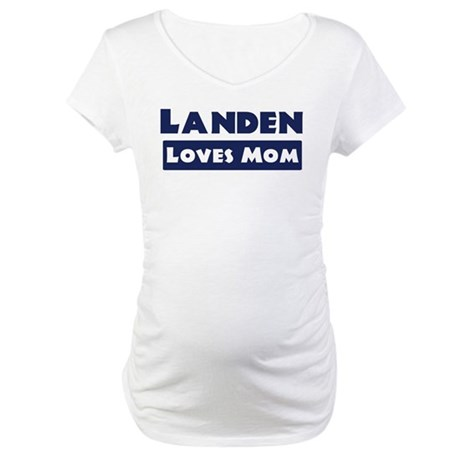 Landen Loves Mom Maternity T-Shirt