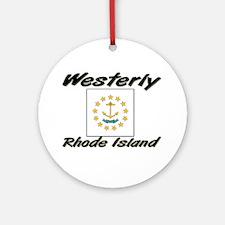 Westerly Rhode Island Ornament (Round)