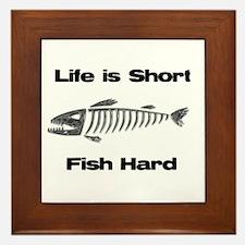 Cute Fishing Framed Tile