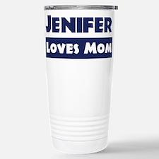 Jenifer Loves Mom Stainless Steel Travel Mug