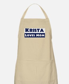 Krista Loves Mom BBQ Apron