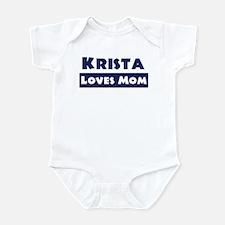 Krista Loves Mom Infant Bodysuit