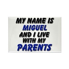 my name is miguel and I live with my parents Recta