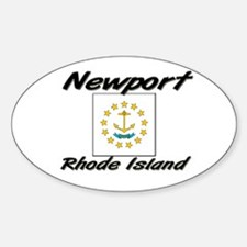 Newport Rhode Island Oval Decal