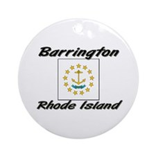 Barrington Rhode Island Ornament (Round)