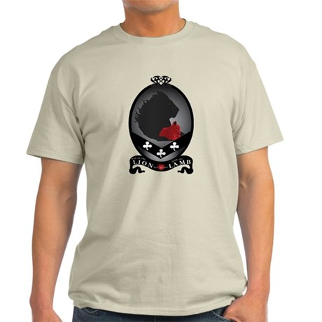 B&W Twilight LION and LAMB Crest Light T-Shirt