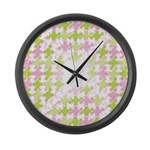 Fernberry Houndstooth Large Wall Clock