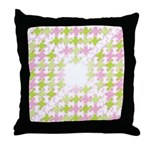 Fernberry Houndstooth Throw Pillow