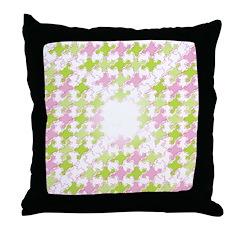 Fernberry Houndstooth Throw Pillow