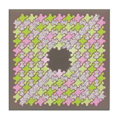 Fernberry Houndstooth Tile Drink Coaster