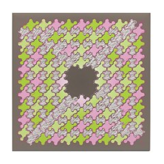 Fernberry Houndstooth Tile Drink Coaster