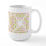 Fernberry Houndstooth Large Mug (15 oz)