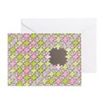 Fernberry Houndstooth Greeting Card