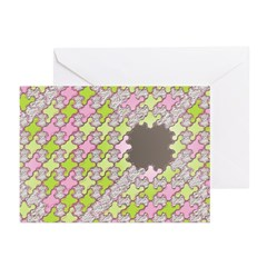 Fernberry Houndstooth Greeting Cards (Pk of 20)