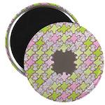 """Fernberry Houndstooth 2.25"""" Magnet (10 pack)"""