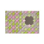 Fernberry Houndstooth Rectangle Magnet (100 pack)