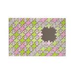 Fernberry Houndstooth Rectangle Magnet