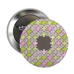 "Fernberry Houndstooth 2.25"" Button (100 pack)"