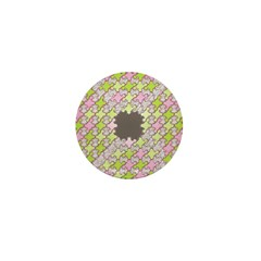 Fernberry Houndstooth Mini Button
