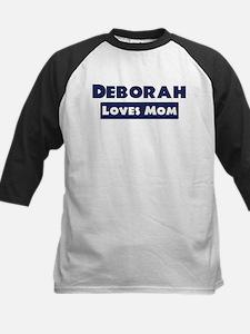 Deborah Loves Mom Kids Baseball Jersey
