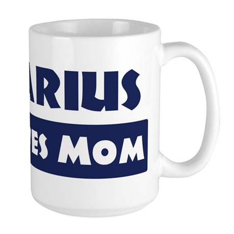 Darius Loves Mom Large Mug