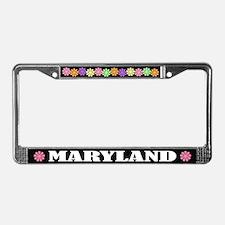 Pretty Maryland License Plate Frame