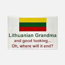 Gd Lkg Lithuanian Grandma Rectangle Magnet