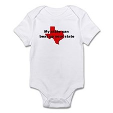 My state can beat up your sta Infant Bodysuit