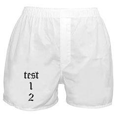 test 1 2 Boxer Shorts