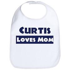 Curtis Loves Mom Bib